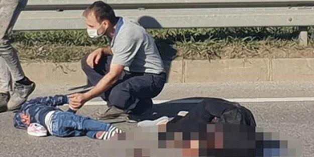 Trabzon'da korkunç kaza kamerada! Anne öldü 4 kişi yaralandı