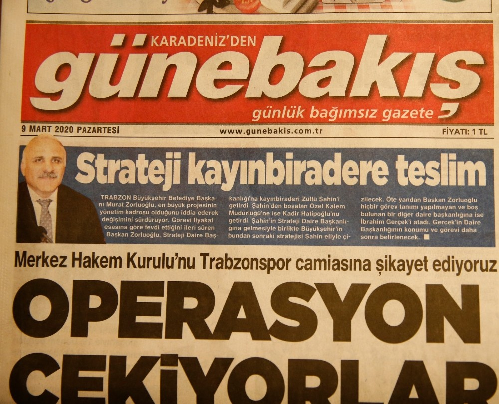 Trabzon'daki 4 yerel gazete