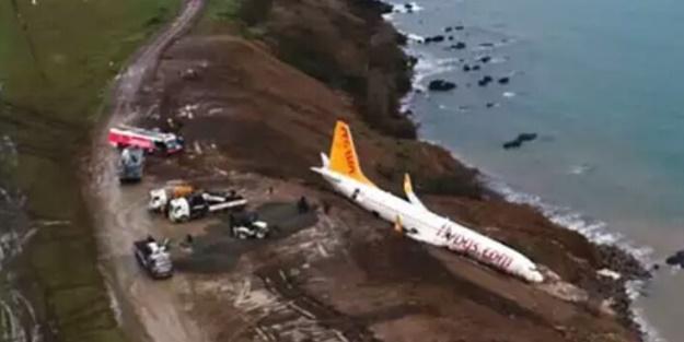 Trabzon'daki uçak kazasının en net görüntüsü