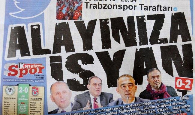 Trabzonspor'da umutlu mesajlar ve kızgınlık
