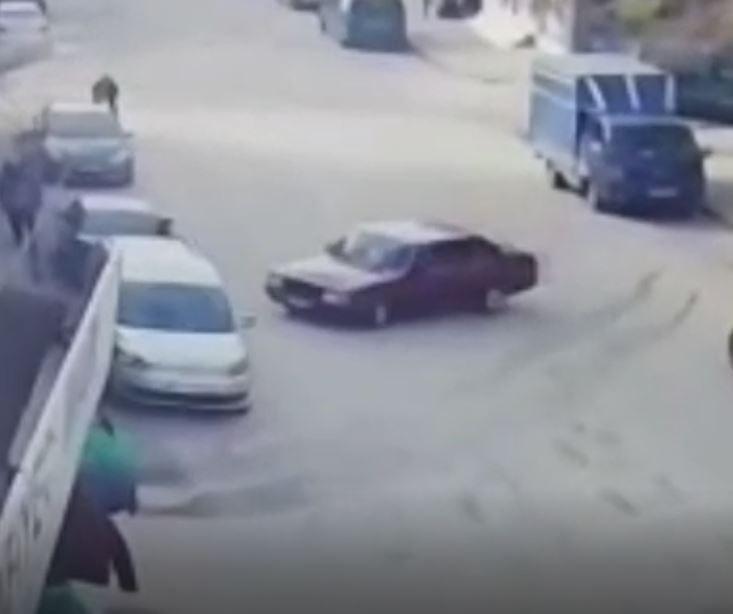 Trafikte drift kaza ile sonuçlandı