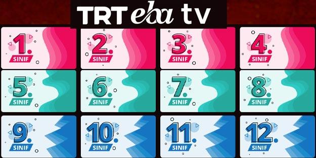 TRT canlı EBA TV TRT ders programı TRT EBA TV kanalı ders saatleri ilkokul ortaokul lise