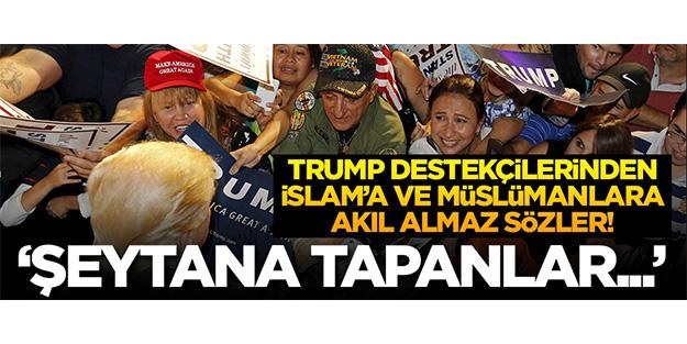 Trump destekçileri İslam'akin kusup camiye saldırırken kendilerini videoya çektiler