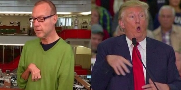 Trump engelli muhabirle dalga geçti