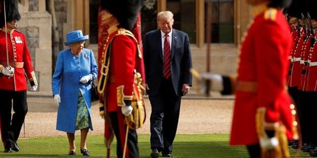 Trump, İngiliz Kraliçesi'ni maymuna çevirdi! Kraliçe çıldırdı