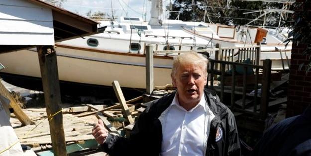 Trump kasırgazedelerle dalga geçti: En azından tekneniz olmuş