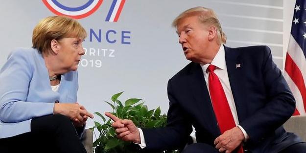 Trump ve Merkel'le Fransa'da görüştü