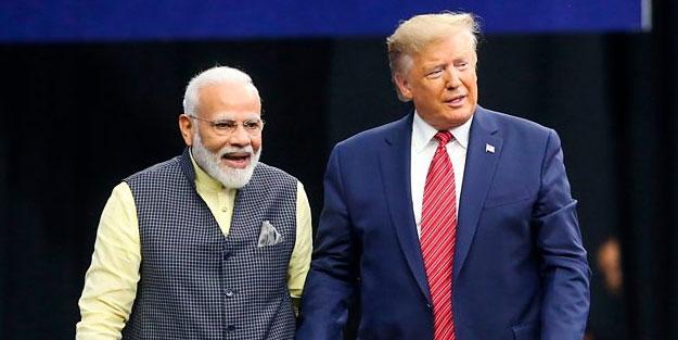 Trump'la şov yapan Müslüman katliamcısı Modi'den barış çağrısı