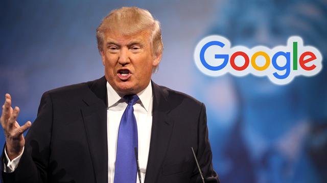 Trump'tan çarpıcı Google çıkışı