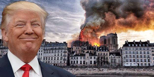 Trump'tan jet açıklama: Yangını izlemek çok korkunç