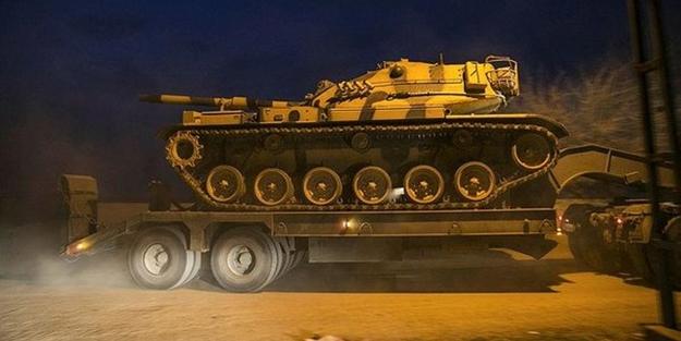 TSK'dan sınıra tank sevkiyatı