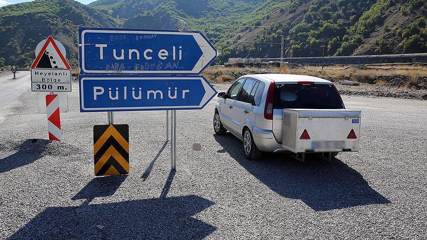 Tunceli-Pülümür karayolunda araç geçişlerindeki düzenleme