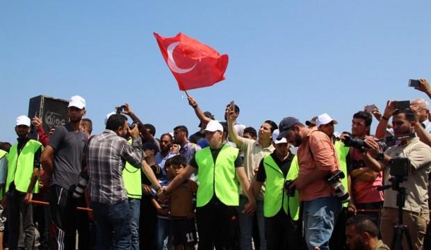 Türk bayraklarıyla açılmışlardı! İsrail el koydu