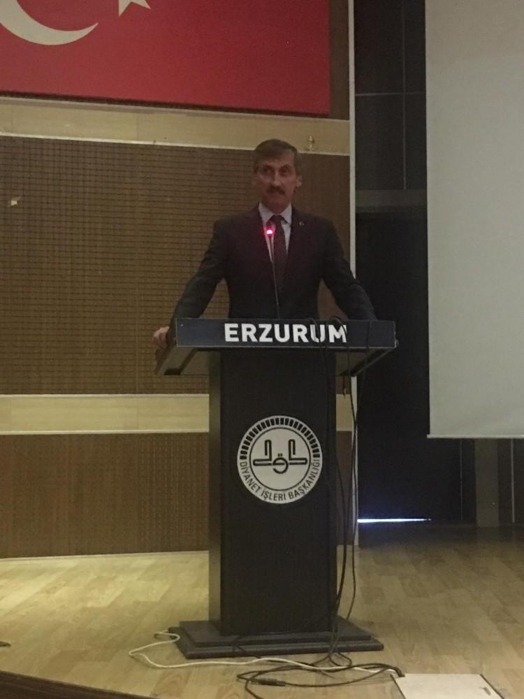 Türk Diyanet Vakıf Sen Genel Başkanı Erzurum'da