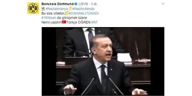 Borussia Dortmund'a Erdoğan şoku!