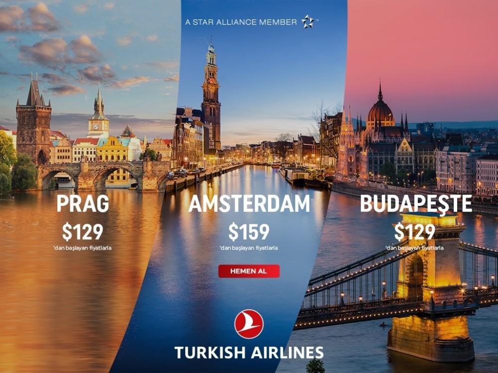 Türk Hava Yolları'ndan Orta Avrupa yolcuları için kampanya