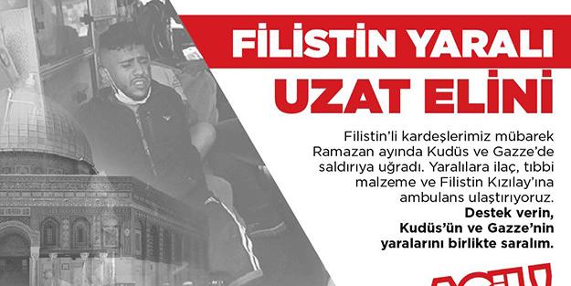 """Türk Kızılay'ının, """"Filistin Yaralı Uzat Elini"""" kampanyası devam ediyor"""