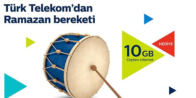 Türk Telekom'dan Ramazan'a özel 10 gb hediye