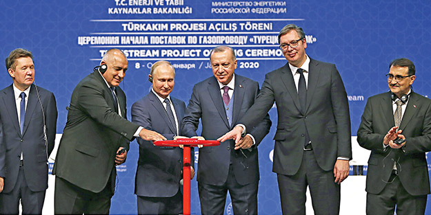 TürkAkım tamam! Batı'nın enerji üssü Türkiye