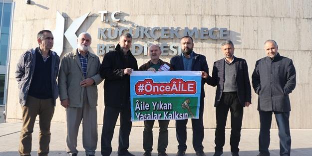 Türkiye Aile Meclisi Küçükçekmece Belediyesi'ni protesto etti!