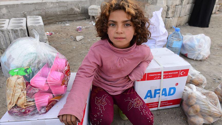 Türkiye Barış Pınarı Harekatı bölgesindeki sivillere yardıma koştu