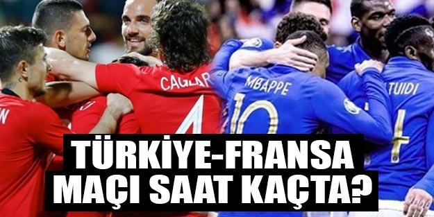 Türkiye-Fransa maçı saat kaçta? Türkiye Fransa maçı kaç kaç biter, Türkiye-Fransa maçı