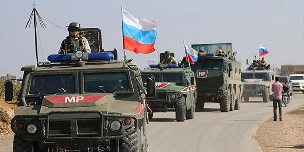 Rus askeri polisleri devriye bölgesine hareket etti