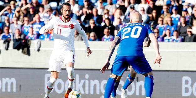 Türkiye - İzlanda maçında Milliler üzdü!