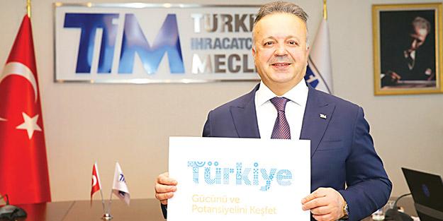 Türkiye logosu için düğmeye bastı