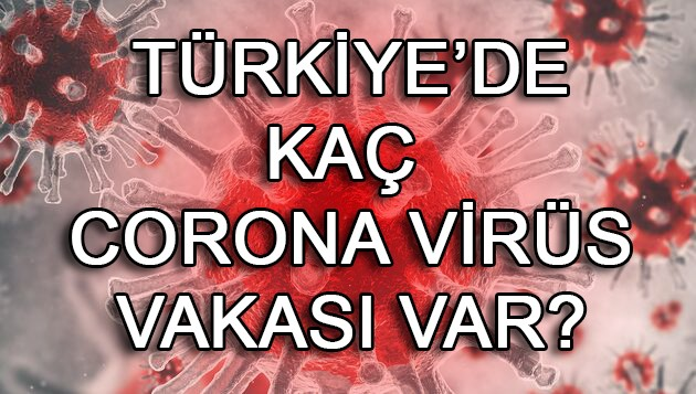 Türkiye'de kaç corona virüsü vakası var?