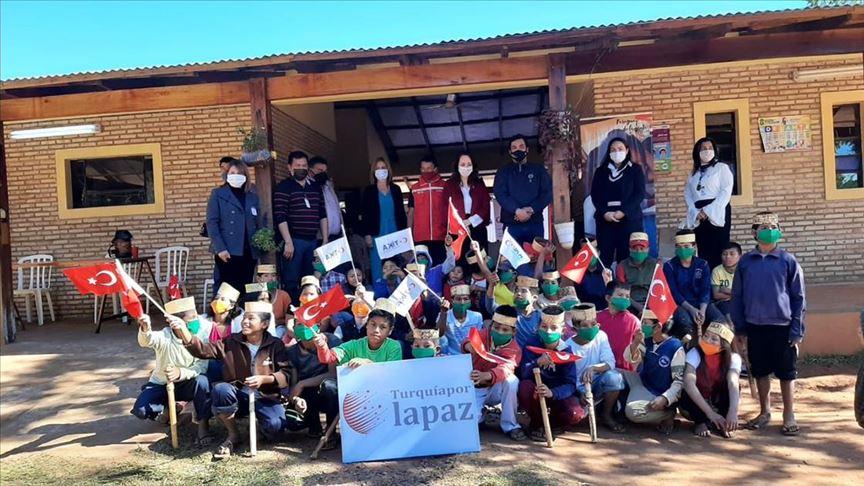 Türkiye'den Paraguay'daki bakıma muhtaç çocuklara yardım