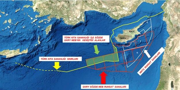 Türkiye'den Rumlara ve müdahil olan ülkelere uyarı: İznimiz olmadan asla!
