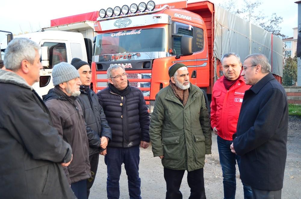 Türkiye'nin en batısından İdlib'e yardım