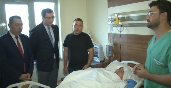 Türkiye'nin Erbil Başkonsolosu Mehmet Akif inam, Türkmen yaralılara ziyarette bulundu
