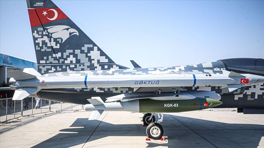 Türkiye'nin ilk hava-hava füzesi Göktuğ TEKNOFEST'te ziyarete açıldı