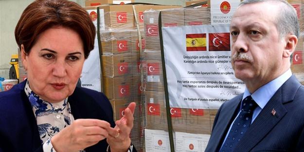 Türkiye'nin İspanya ve İtalya'ya yardım göndermesine Akşener'den skandal benzetme!