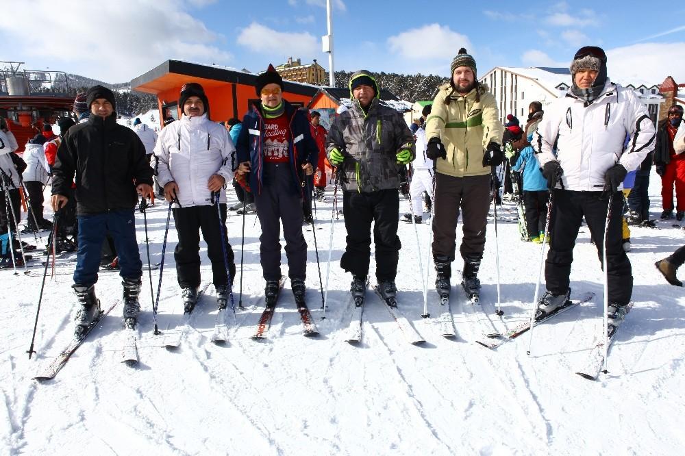 Türkmenistan heyeti, Sarıkamış Kayak Merkezi'ni inceledi