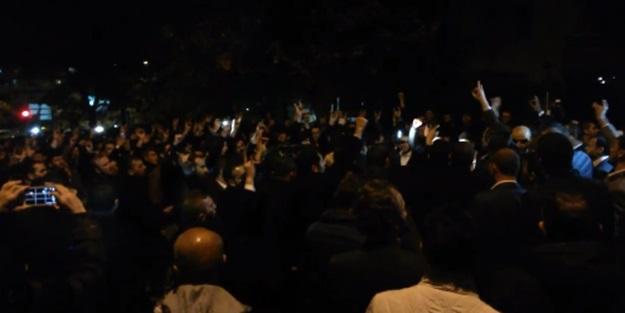 Türkmenler için Rusya Büyükelçiliği önünde eylem