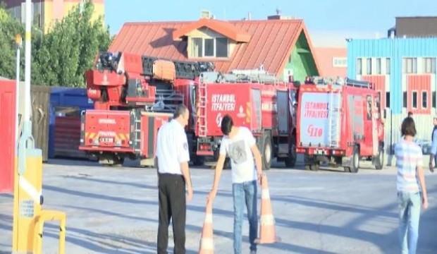 Tuzla'da katı atık merkezinde yangın