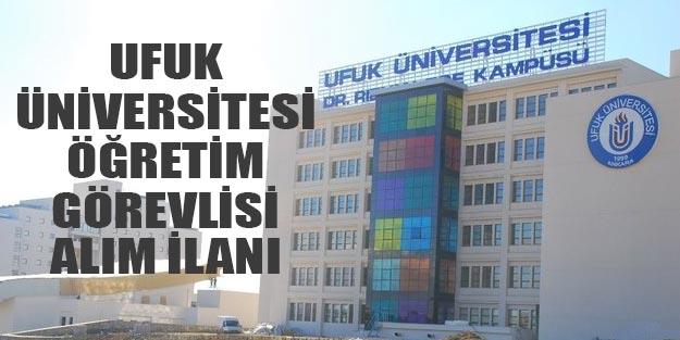 Ufuk Üniversitesi öğretim üyesi alım ilanı 2019