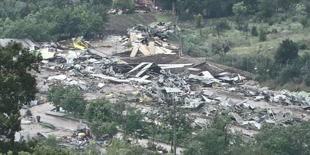 Uğruna gazetecinin darbedildiği Lütfü Türkkan'a ait kaçak çiftlikte yıkım tamamlandı