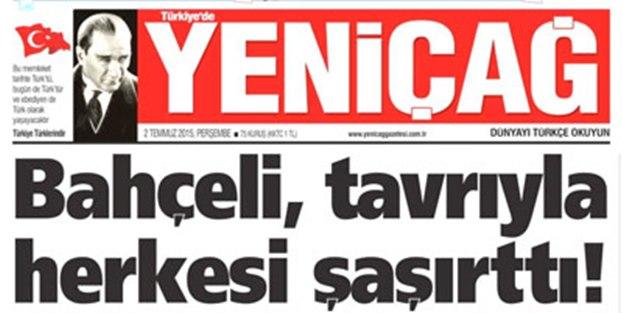 Ülkücü gazeteden MHP'ye sert eleştiri!