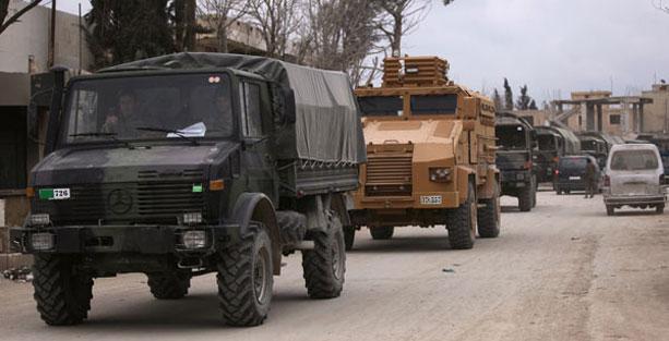 Uluslararası ajanslar son dakika olarak duyurdu… Dev konvoy sınırı geçti