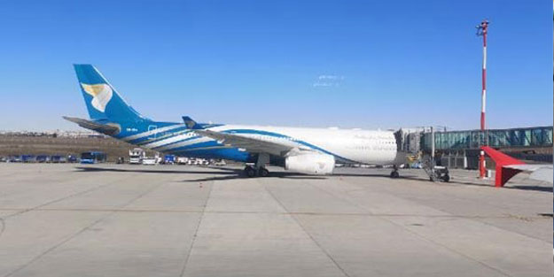Umman Havayolları uçağı Diyarbakır'a acil iniş yaptı!