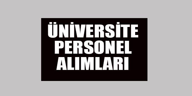 Üniversite işçi alımları | İŞKUR şoför güvenlik görevlisi temizlik elemanı alım başvuruları