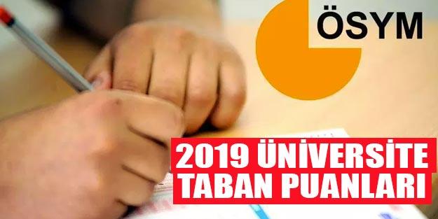 Üniversite taban puanları 2019 4 yıllık ve 2 yıllık üniversite taban puanları ve başarı sıralamaları