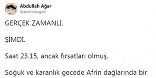 Ünlü isim paylaştı! Afrin'deki fotoğraf sosyal medyayı salladı