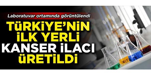 Üretim laboratuvarı ilk kez görüntülendi... Türkiye ilk kanser ilacını üretmeyi başardı!