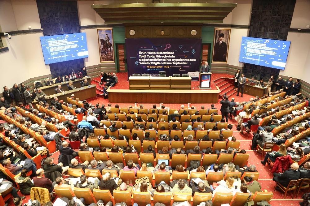 Ürün takip sistemi bilgilendirme toplantısı ATO'da yapıldı