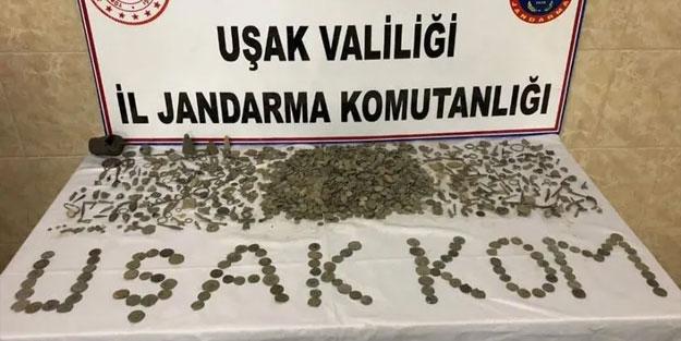 Uşak'ta tarihi eser kaçakçılığı operasyonu: 5 gözaltı